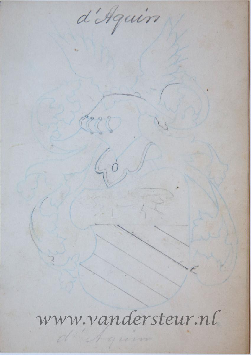 Wapenkaart/Coat of Arms: Aquin (d')