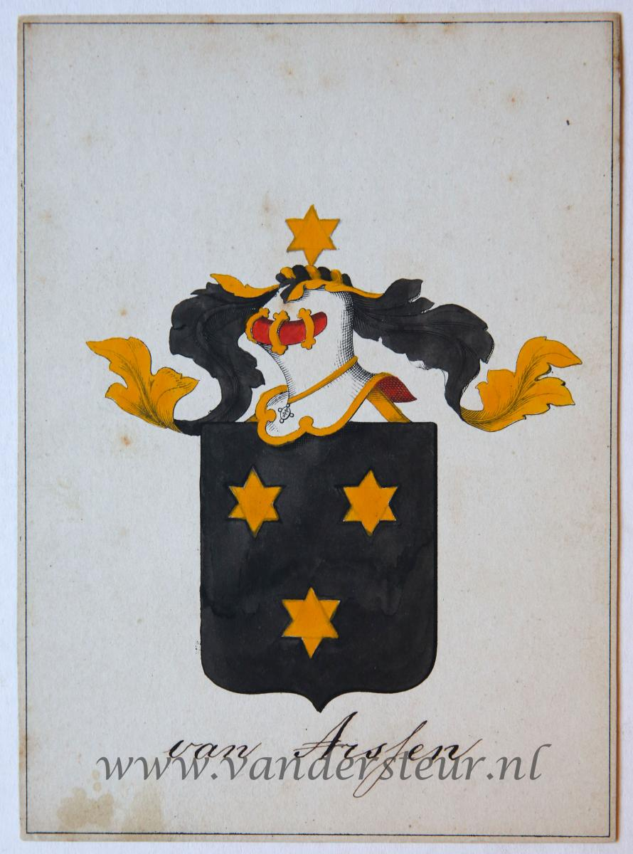 Wapenkaart/Coat of Arms: Arssen (Van)