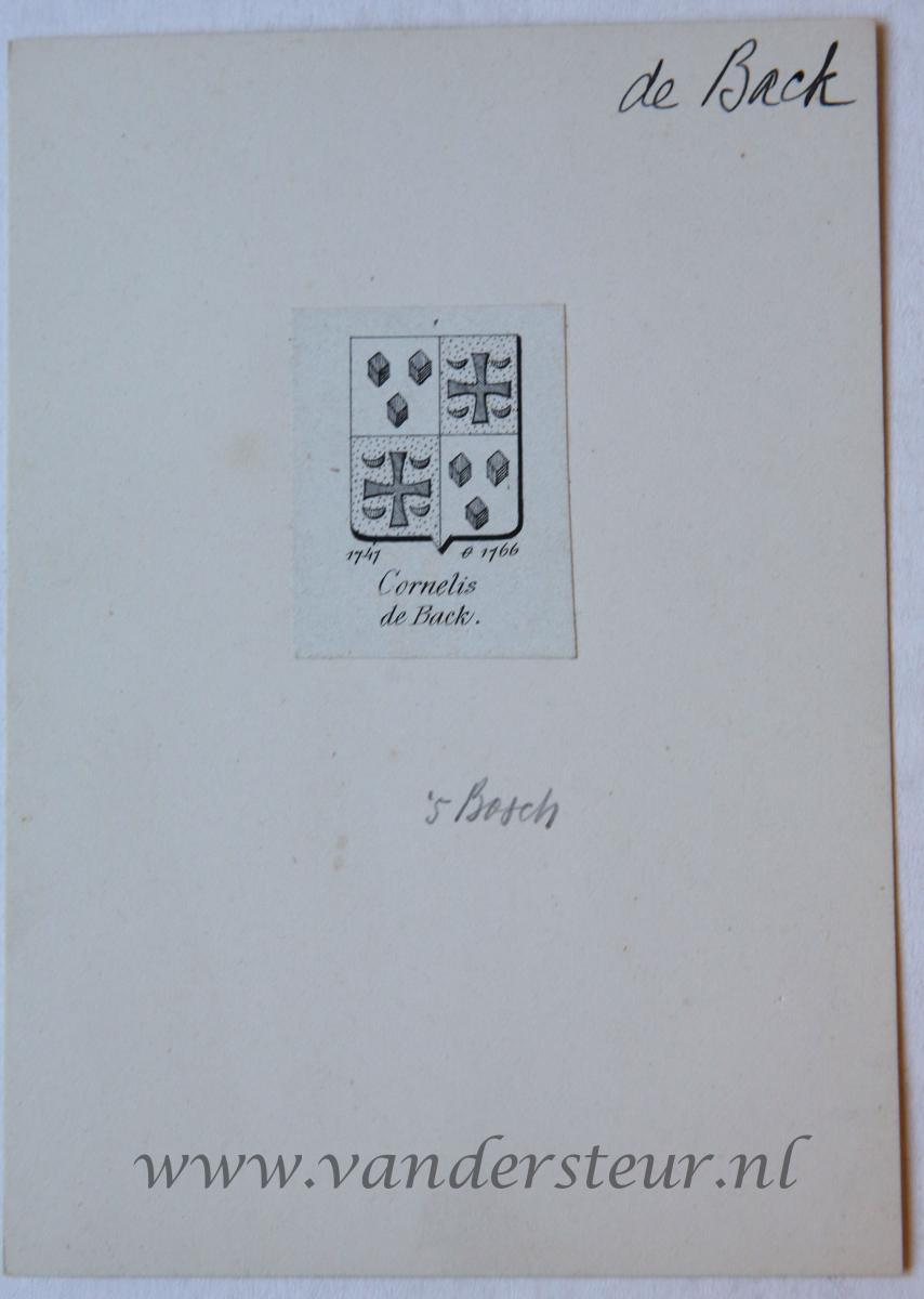 Wapenkaart/Coat of Arms: Back (De)