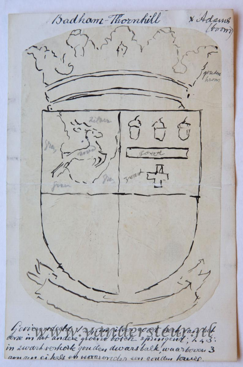 Wapenkaart/Coat of Arms: Badham-Thornhill