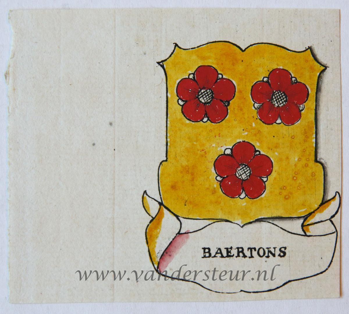 Wapenkaart/Coat of Arms: Baertons